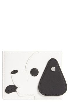 Opening Ceremony 'Dog' Calfskin Leather Card Case