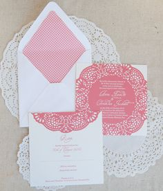 Aura Collection Wedding Invitation with Lined Envelope and RSVP Card (sample)