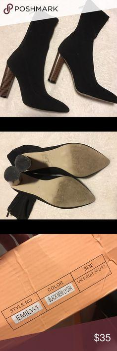 Selling this Public desire booties black size 7 1/2 yeezy on Poshmark! My username is: akilbride. #shopmycloset #poshmark #fashion #shopping #style #forsale #Shoes