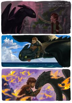 """General Hofferson: Photo lis-alis: """"This story will always remain in my heart. First part is the best animated film t've ever seen. just perfect """" Httyd Dragons, Dreamworks Dragons, Disney And Dreamworks, Httyd 3, Hiccup And Toothless, Hiccup And Astrid, Dragon Memes, How To Train Dragon, Dragon Rider"""