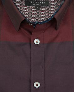 Large checked shirt - Red | Shirts | Ted Baker
