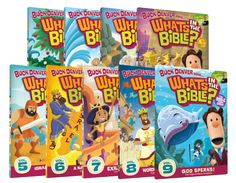 What's in the Bible DVDs 1-9  This starts in the Old Testament. They are going all the way through the bible. Your kids (and YOU) will learn more than you dreamed! I just used coupon code OTSAVE25 and got $25 off.