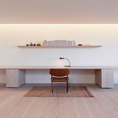 WEBSTA @ dinesen - Office space in all its simplicity. The GrandDouglas planks are used for both flooring and furniture. Designed by S. K. Mukherjee and located in New York #dinesen #dinesengranddouglas #granddouglas #flooring #floor #office #officespace #interior #interiordesign #design #simplicity