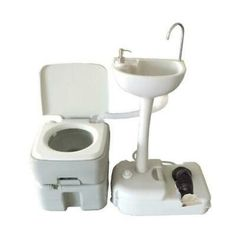 Outdoor Camping Hiking Portable Toilet Flush Potty Commode with Wash Basin. The Portable Removable Flushing Toilet Outdoor Camping Potty provides the comfort and performance of standard toilets when you are out and about camping on a boat or RV. Camping Potty, Auto Camping, Portable Toilet For Camping, Portable Sink, Camping Tools, Van Camping, Camping Stove, Camping Gear, Camping Hacks