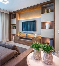 35 Amazing Wall TV Cabinet Designs for Cozy Family Room. 35 Amazing Wall TV Cabinet Designs for Cozy Family Room – Whether you live in a spacious house or live in a small apartment, the living room is a place where you can relax with your family, e… Cozy Family Rooms, Family Room Design, Cozy Living Rooms, Living Room Decor, Tv Cabinet Design, Tv Wall Design, Tv Wall Decor, Wall Tv, Bedroom Tv Wall
