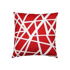 Pillow Decor Bird's Nest Red Throw Pillow 20X20 (¥5,690) ❤ liked on Polyvore featuring home, home decor, throw pillows, red throw pillows, pillow decor, geometric home decor, red accent pillows and red home decor