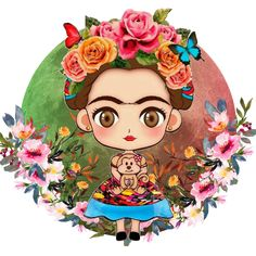 sticker by Thex Dark. Discover all images by Thex Dark. Find more awesome scfridafriday images on PicsArt. Frida Kahlo Artwork, Kahlo Paintings, Frida Art, Diego Rivera Frida Kahlo, Frida And Diego, Frida Kahlo Cartoon, Frida Kahlo Birthday, Mexican Artwork, Deco Boheme