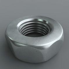 Handy for mechanical builds, like the one I'm working on today - Metal Nut   ° FREE °   3D models   3D models, C4D models, C4DmodelSHOP