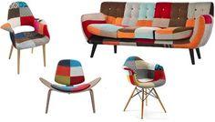 El estilo patchwork en sillas y sillones esta de moda