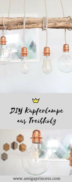 Diy Kupferlampe Aus Treibholz, Schritt Für Schritt Anleitung, DIY Lampe Aus  Kupfer Und Holz