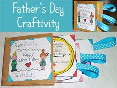 Father's Day paper bag gift book! (templates included)