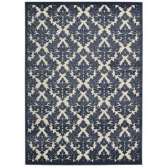 Found it at Wayfair - Beaumont Ivory & Blue Area Rug
