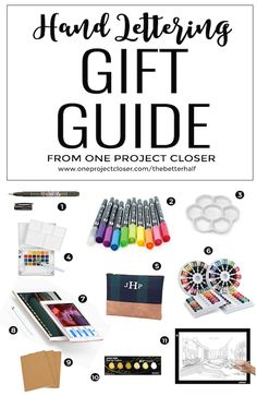 Holiday Hand Lettering Gift Guide 2016 from One Project Closer