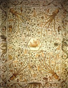 Roman Mosaic. Cupids & Dionysus in a Vine. El Djem, Tunisia.