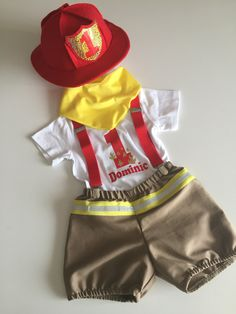 Personalised Baby Fireman.... Fireman photo prop.... 1st birthday outfit..... halloween outfit.... baby dressup by BuBBlingBoutique on Etsy