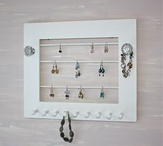 Jewelry Holder Earring Display Wall Hanging by onthewallusa, $28.00