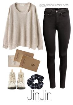 """Bookstore // JinJin"" by suga-infires ❤ liked on Polyvore featuring H&M, BUFF and Accessorize"