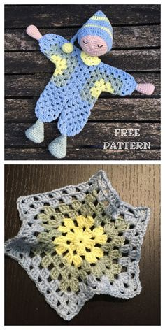 Granny Hexagon Doll Crochet Patterns + Video - DIY Magazine Doll Amigurumi Free Pattern, Crochet Dolls Free Patterns, Crochet Doll Pattern, Crochet Blanket Patterns, Amigurumi Doll, Beginner Knitting Patterns, Crochet Crafts, Crochet Toys, Crochet Baby