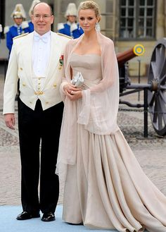 Charlene Wittstock. At the Royal wedding of Princess Victoria of Sweden and Daniel Westling.