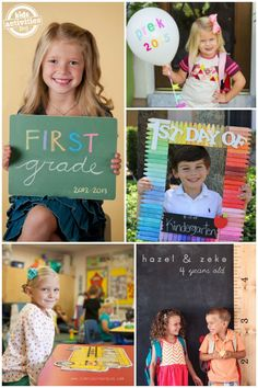 24 Ideas for Adorable First Day of School Pictures via @hollyhomer