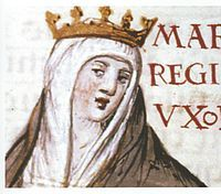 Maria of Portugal (9 February 1313 – 18 January 1357) was a Queen consort of Castile and Leon upon her marriage to Alfonso XI in 1328. The relationship between Maria and Alfonso was unhappy, Alfonso had a relationship with Leonor de Guzmán who gave him ten children. Maria did not participate in the affairs of the court, being relegated by the royal mistress Leonor and it is quite likely that she spent long periods secluded at the Royal Monastery of San Clemente in Seville.