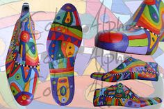 Color Alpha - Macetas Pintadas: RECICLADO: Hormas antiguas de madera Hand Painted Furniture, Diy Furniture, Arts And Crafts, Diy Crafts, Shoe Last, Shoe Tree, Art Tutorials, Painting On Wood, Art Dolls