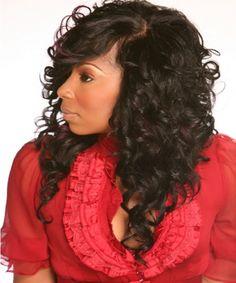 Phenomenal Black Women Curly Weave Hairstyles And Hairstyles On Pinterest Short Hairstyles For Black Women Fulllsitofus
