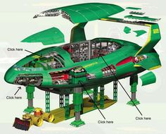 The workings of Thunderbird 2 Thunderbirds Are Go, Sci Fi Ships, Classic Sci Fi, Retro Futurism, Fantastic Beasts, Star Trek, Science Fiction, Concept Art, Poster