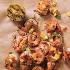 Jamaican Jerk Prawns with Mango Salsa