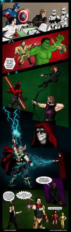 Marvel vs Star Wars: Avengers Edition (Follow the link for a higher quality version)
