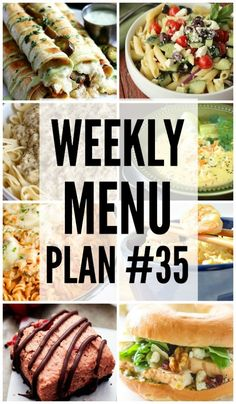 Weekly Menu Plan #35