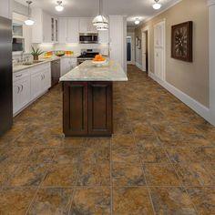 Ashlar Luxury Vinyl Floor Tile Flooring Plank Kitchen Decor 12 in. x 36 in. Vinyl Flooring Kitchen, Luxury Vinyl Tile Flooring, Vinyl Tiles, Vinyl Plank Flooring, Stone Flooring, Best Kitchen Designs, Home Renovation, Kitchen Decor, Slate Kitchen