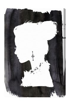 The silhouette of an elegant lady with a messy updo is the focal point of the Oliver Gal Beauty Canvas Art . This gallery wrapped canvas makes an eye-catching. Oliver Gal, Canvas Art Prints, Canvas Wall Art, Canvas Paintings, Diy Canvas, Monochrome, Cuadros Diy, Thing 1, Illustrations