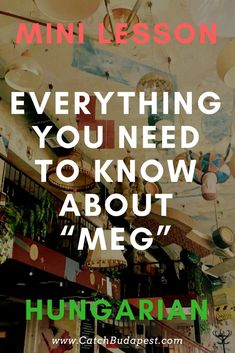 "Mini Hungarian Lesson - Everything You Need to Know about ""Meg"" Grammar Tips, Grammar Rules, Tenses Rules, Present Tense, Past Tense, Background Information, Prefixes, Lessons Learned, Budapest"