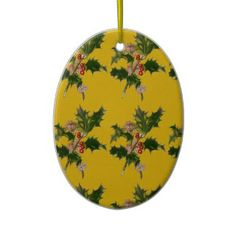 Christmas Holly Tree Ornament