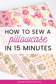 Pillowcases are an easy sew for beginners. Here's how to sew a pillowcase 2 different ways: basic pillowcase with a contrast band + one with French seams. Sewing Basics, Sewing Hacks, Sewing Tutorials, Dress Tutorials, Sewing Ideas, Sewing Pillow Cases, Sewing Pillows, Crochet Blanket Patterns, Skirt Patterns