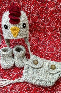 Crochet Baby Hats Crochet chicken/rooster baby hat diaper cover by SeptemberStitches - Crochet Kids Hats, Crochet Baby Clothes, Crochet Beanie, Crochet Cross, Cute Crochet, Chicken Hats, Crochet Character Hats, Crochet Baby Blanket Beginner, Crochet Costumes