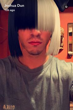 And here we see Joshua Dun imitating Sia, but let's be real, we all thought of Melanie Martinez