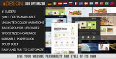 U-Design is a very powerful theme which suits both, users with no programming background as well as advanced developers. It will help you build your site in no time to your liking with minimal effort. Web Themes, Themes Free, Cool Themes, Website Themes, Website Ideas, Web Design, Blog Design, Graphic Design, Wordpress Template
