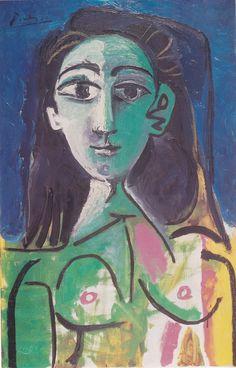 Portrait of Jacqueline Roque (Collage) 1957