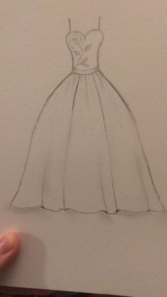 Fashion sketches 293648838205729374 - Super Ideas Disney Art Sketches Draw Fashion Illustrations Source by mariclothilde Dress Drawing Easy, Dress Design Drawing, Dress Design Sketches, Girl Drawing Sketches, Fashion Design Drawings, Art Drawings Sketches Simple, Pencil Art Drawings, Wedding Dress Sketches, Fashion Illustration Sketches