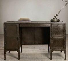 Restoration Hardware industrial desk/Neo Victorian/steampunk décor ideas