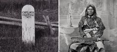 """On October 3, 1873, the U.S. Army hanged Modoc Indian chief """"Captain Jack"""" Kintpuash for the murders of General Edward Canby and Reverend El..."""