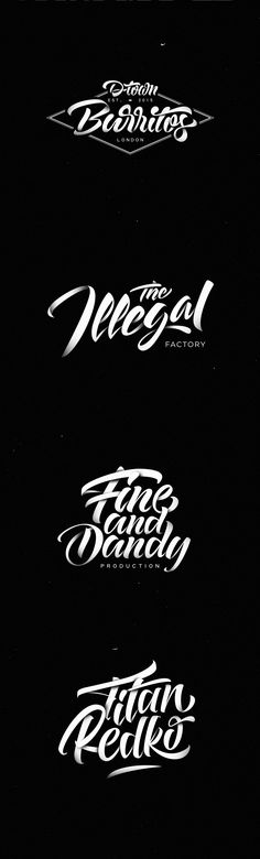 Selection of lettering logos made ​​during 2015. Art direction and lettering…