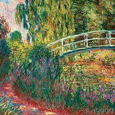 Claude Monet - Japanische Brücke im Garten von