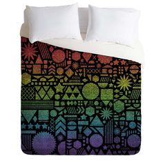 Nick Nelson Modern Elements With Spectrum Duvet Cover | DENY Designs Home Accessories