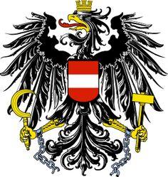 Brasão de armas da Austria. Coat of arms of Austria.