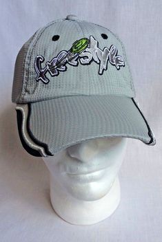 beac7211d02 Mens Freestyle Flying Disc Strapback Cap Hat New w o Tags Grey Black   Unbranded