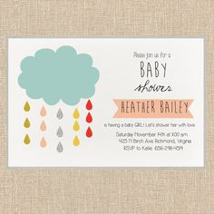 Baby Shower Invitation.