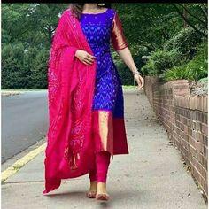Silk Kurti Designs, Churidar Designs, Half Saree Designs, Kurta Designs Women, Kurti Designs Party Wear, Latest Anarkali Designs, Blouse Designs, Indian Fashion Dresses, Dress Indian Style